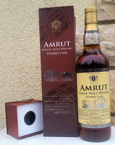 Amrut DoubleCask Peated Portpipe 46% 0,7ltr