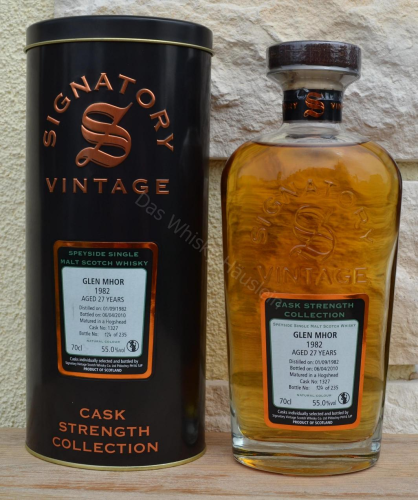 Sample: Glen Mhor 1982 Signatory 27j 55% 100ml