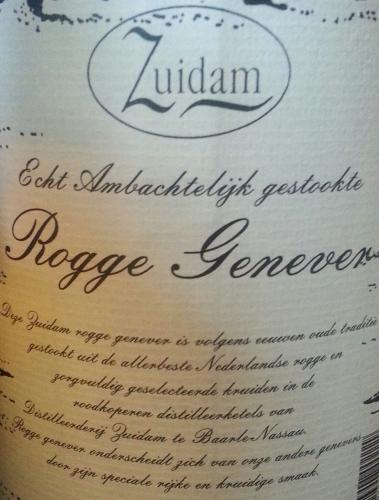 Sample: Zuidam Roggen Genever 35% 100ml