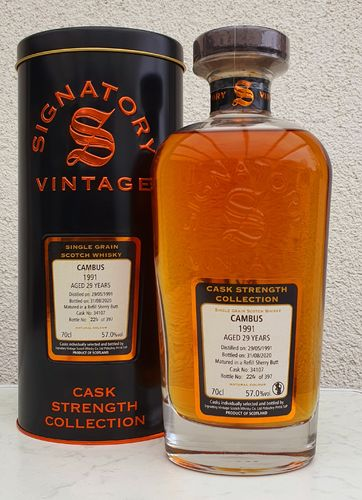 Cambus Single Grain 1991 Sherryfaß 57% 0,70ltr