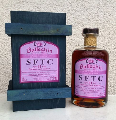 Ballechin 11j Straigtht From The Cask 53,4% 0,5ltr
