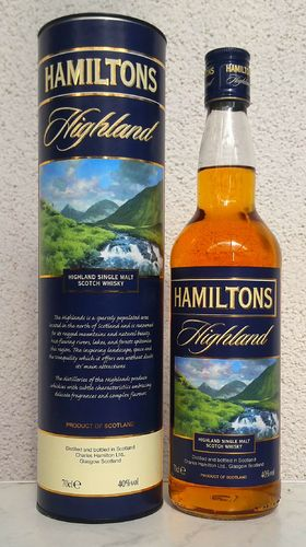 Hamiltons Highland Single Malt 40% 0,7ltr