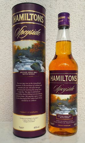 Hamiltons Speyside Single Malt 40% 0,7ltr
