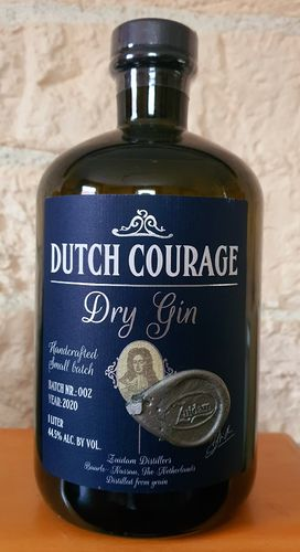Gin: Dutch Courage Dry Gin 44,5% 1,0ltr